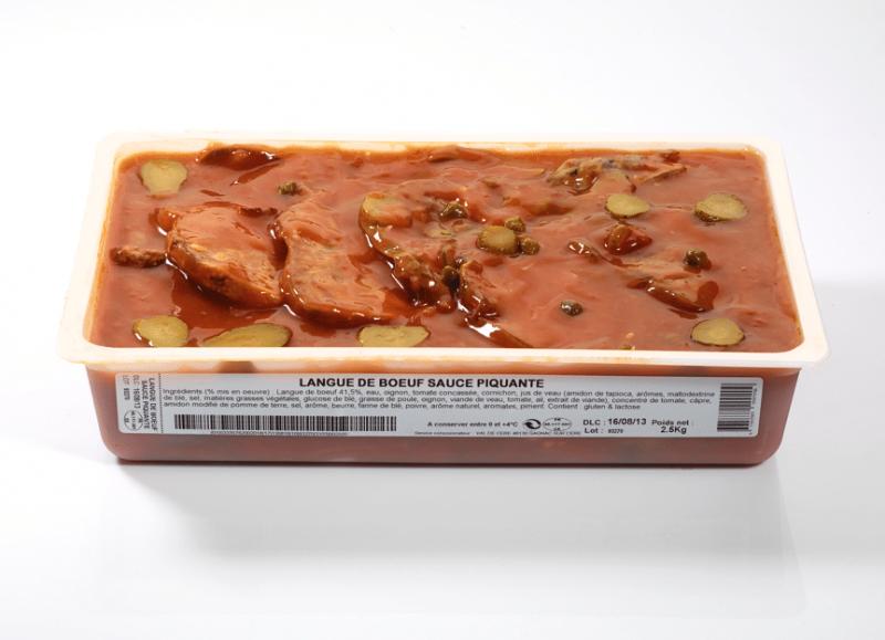 Langue de bœuf sauce piquante