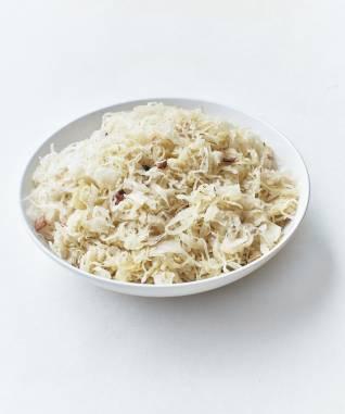 Choucroute cuite au Riesling et aux lardons