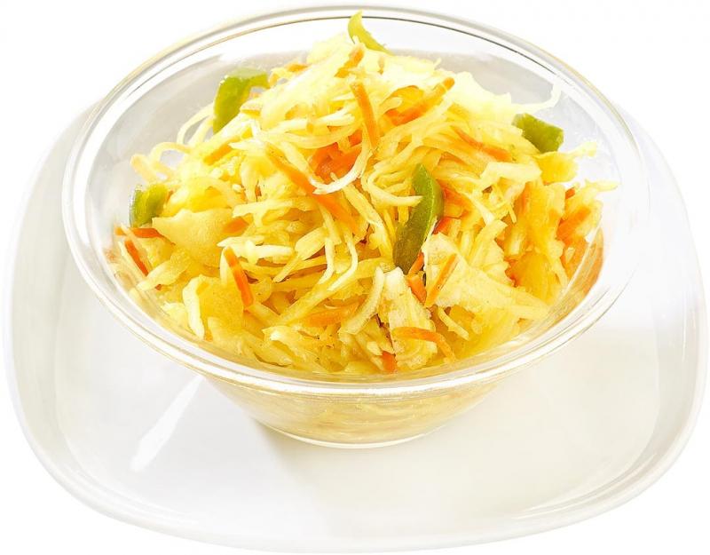 Salade de choux au curry